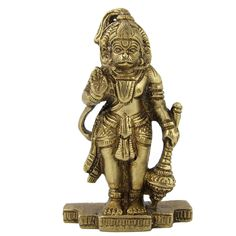Amazon.com: Standing Statue Lord Hanumaan Brass Figurine: Home & Kitchen