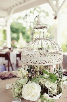 20 Flower Birdcage Decorations