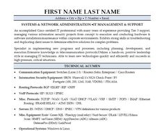 Skills And Accomplishments Resume Examples Sample Network Administrator Job In Linux Server