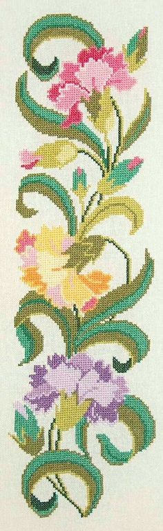 The Cross Stitch Guild - Stitc Cross Stitch Rose, Cross Stitch Borders, Cross Stitch Flowers, Cross Stitch Designs, Cross Stitching, Cross Stitch Patterns, Hand Embroidery Patterns, Diy Embroidery, Beading Patterns