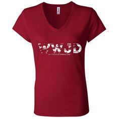 Display Your Freedom with WWJD Ladies' Jers... Let American Clothing Ink put the freedom in your hands http://americanclothingink.com/products/ladies-jersey-v-neck-t-shirt?utm_campaign=social_autopilot&utm_source=pin&utm_medium=pin