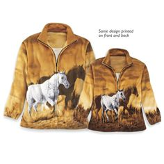 Sunset Ride Fleece Jacket Youth - Horse Themed Gifts, Clothing, Jewelry and Accessories all for Horse Lovers | Back In The Saddle