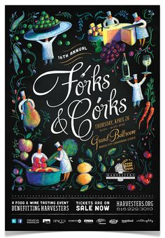 Forks & Corks Posters on Behance