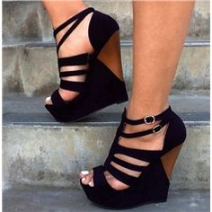 OL Style Cut-Outs Wedge Sandals