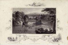 Antique Print of Barclay's Iron Works at Ulson, New York. Circa. 1850.