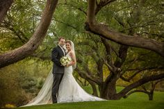 ♥ Angela + Adam ♥ #brideandgroom #golfcoursewedding #outdoorwedding