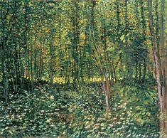 "dappledwithshadow: ""Trees and Undergrowth - Vincent Van Gogh """