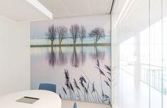 Akoestische fotowand stilte ruimte in gemeeentehuis Naaldwijk