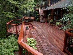 deck - who needs a backyard? Deck Design, Landscape Design, Exterior Stain, Exterior Design, Outdoor Living, Outdoor Decor, Outdoor Spaces, Outdoor Fun, Diy Deck