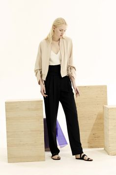 Combine black and nude for a classic outfit