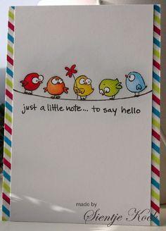 Handmade Journals Cute little birds from Basik and Ko Doodles, Bird Cards, Little Birds, Watercolor Cards, Watercolour, Creative Cards, Cute Cards, Homemade Cards, Cardmaking