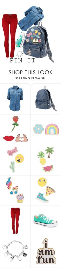 """""""Pin It"""" by creativejenerator ❤ liked on Polyvore featuring Issey Miyake, Polaroid, iDecoz, Big Bud Press, Red Camel, Betsey Johnson, Converse, Disney and ban.do"""