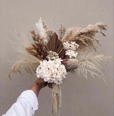 Dried Flower Bouquet, Flower Bouquet Wedding, Dried Flowers, Gerbera Wedding, Boquet, Bridal Bouquets, Silk Flowers, Boho Wedding, Floral Wedding