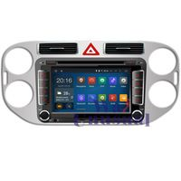 HD 1024*600 Quad Core 16G 7'' Pure Android 4.4.4 Car DVD Player for VW Tiguan 2013- GPS Navigation Newest Radio Free Shipping
