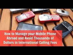 How do you mange your mobile phone from overseas and avoid those ridiculous international charges? Watch and learn!
