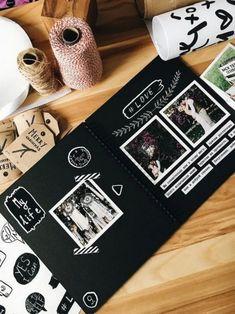 Scrapbook, 80 Pages Photo Album Craft Paper, DIY Handmade Album Scrapbook for Anniversary, Wedding, Travelling, Baby Shower