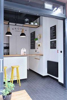 69 Ideas kitchen colors ideas for walls bar stools Deco Pizzeria, Deco Restaurant, Modern Restaurant, Restaurant Design, Restaurant Signage, Cafe Shop Design, Cafe Interior Design, Grey Kitchens, Cool Kitchens