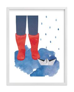 """""""A Rainy Day"""" - Limited Edition Art Print by Kanika Mathur in beautiful frame options and a variety of sizes."""