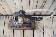rope & pipe industrial table lamp – Mafou Industrial