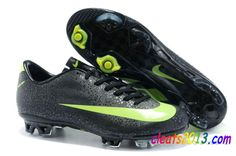 Nike Mercurial Safari Superfly III FG - Black Green Cristiano Ronaldo $59.48