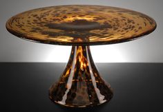 Glass Tortoise Shell Pedestal 14.5 Cake Plate $29. Would look great with a zebra cake on top. :)