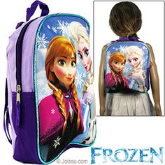 DISNEY'S FROZEN MINI BACKPACKS. With woven adjustable straps, a carrying handle and a zipper closure, these delight every Elsa and Anna fan..  Size 11 X 8.5 X 4 Inches