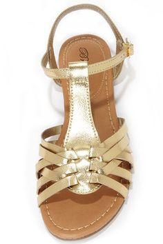 Cute Gold Sandals