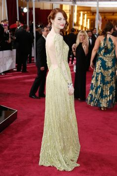 Pin for Later: Les 24 Looks les Plus Sexy des Oscars Emma Stone
