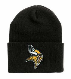 Minnesota Vikings Classic Black Cuffed NFL Beanie Cap by Reebok. $15.89. Winter Beanie. Fashionable And Warm. Classic Knit Material. NFL Licensed. Show Your Team Pride While Keeping Your Head And Ears Warm. This Is An Official NFL Winter Beanie