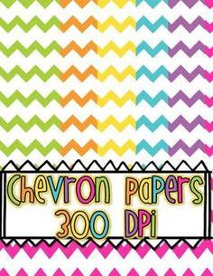 FREE Chevron Papers BrIgHt colors!