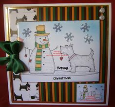 "I added ""Crafting in the Shed at the Bottom of the Garden: "" to an #inlinkz linkup!http://avrilannwatson46.blogspot.co.uk/2015/11/christmas-scottie-with-snowman.html"