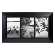 Room Essentials� 3 Opening Picture Frame - Black 4x6