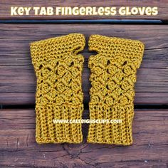 Calleigh's Clips & Crochet Creations: Free Crochet Pattern - Key Tab Fingerless Gloves