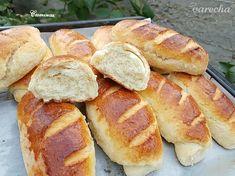 Jemné pečivo z kokosového kysnutého cesta (fotorecept) - recept | Varecha.sk Pretzel Bites, Hot Dog Buns, Bread, Petra, Food, Basket, Brot, Essen, Baking