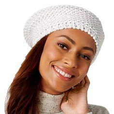 49fa1b7b00149d Inc International Concepts Shine Stitch Beret (White) #fashion #clothing  #shoes # · Handbag AccessoriesWinter HatsBeretCrochet HatsBeanieTypeCoupon Amazon ...