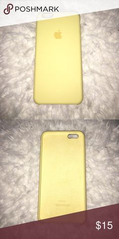 IPhone 6s/6 Plus Yellow Apple case (Genuine) NWOB Yellow Silicone apple Iohone 6/6s Plus Case. Brand new without box. Never used, bought but not needed. Apple Accessories Phone Cases