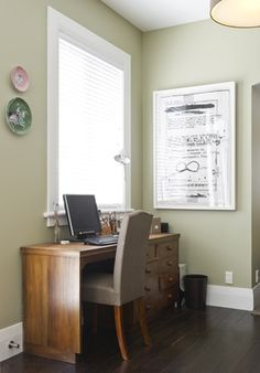 Love the wall colour - Resene Neutral Green