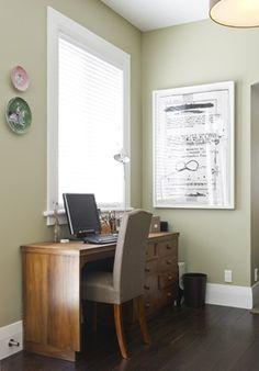 Love the wall colour - Resene Neutral Green