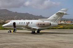 Saxon Air Hawker Beechcraft 900XP G-KLNE aircraft, parked at Spain Tenerife Nortth (Los Rodeos) International Airport. 10/01/2014.