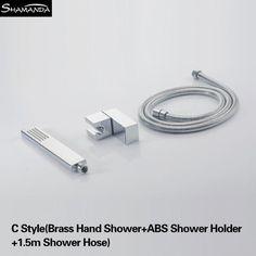 Solid Brass Chrome Hand Shower Several Styles Handheld Showers W/ Shower HolderShower Hose Bathroom Products