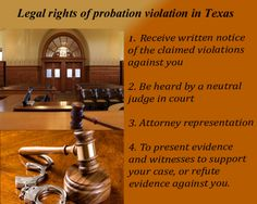 Probation violation is an offense that occurs when you ignore, avoid, refuse, or otherwise break the terms and conditions of your trial at any time during the probation period. Probation violation laws vary between the states and are governed by federal and state law. For more details visit: http://houstoncriminalattorney.com/practice-areas.html