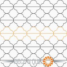 Dashed Quarterfoil Pantograph Pattern - Digital