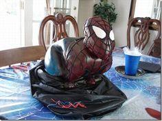 cake-fails - Spider-Man emerging from a black trash bag Guys 21st Birthday, Funny Birthday Cakes, 21 Birthday, Sorority Canvas, Sorority Paddles, Sorority Recruitment, Snowman Cake, Hat Cake, Sorority Big Little