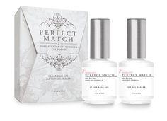 LeChat Perfect Match DUAL SET Soak Off Gel Polish Base Gel & Top Coat Set - PMTB01