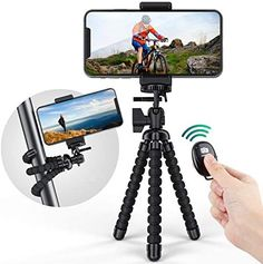 ORIbox Premium Phone Tripod, Flexible Tripod with Bluetooth Remote Control & Phone Holder, Compatible with iPhone and Android Phone, and More,Black New Things To Learn, Cool Things To Buy, Phone Tripod, Laptop Bag For Women, Bluetooth Remote, Cool Gadgets To Buy, Cell Phone Holder, Selfie Stick, Shopping