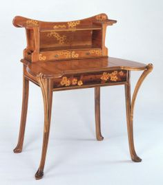 Louis Majorelle (France 1859–1926), Nancy, Desk, Mahogany with Fruit Wood Inlays.