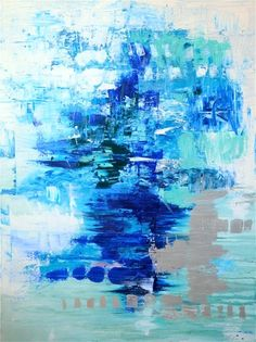 30x40 Original Blue Abstract Painting by xXGlamLambDesignsXx, $699.00