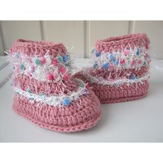 Baby booties, crochet baby Boots, Crochet baby shoes, baby crochet,... ($10) ❤ liked on Polyvore featuring baby booties