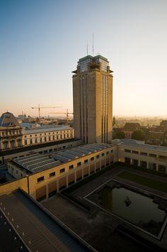 Booktower Ghent. Architect: Henry Van de Velde. Photo by Geert Roels, 2008 #Booktower