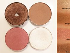 Travel With Less Makeup - MAC quads ideas to use on-the-go for eyes, brows, highlight, and blush.